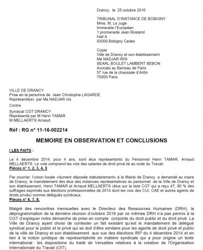 DRANCY, CGT, 93, mairie, UDI, Lagarde, jean, christophe